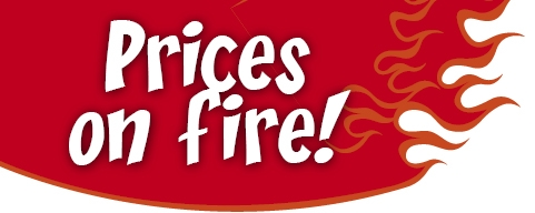 Prices on fire! Garden Furniture up to -60% 1.07.-31.08.