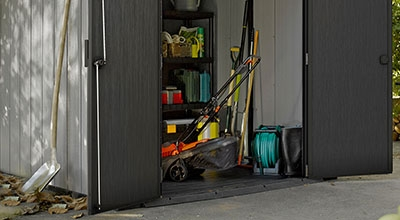 Garden sheds, composters