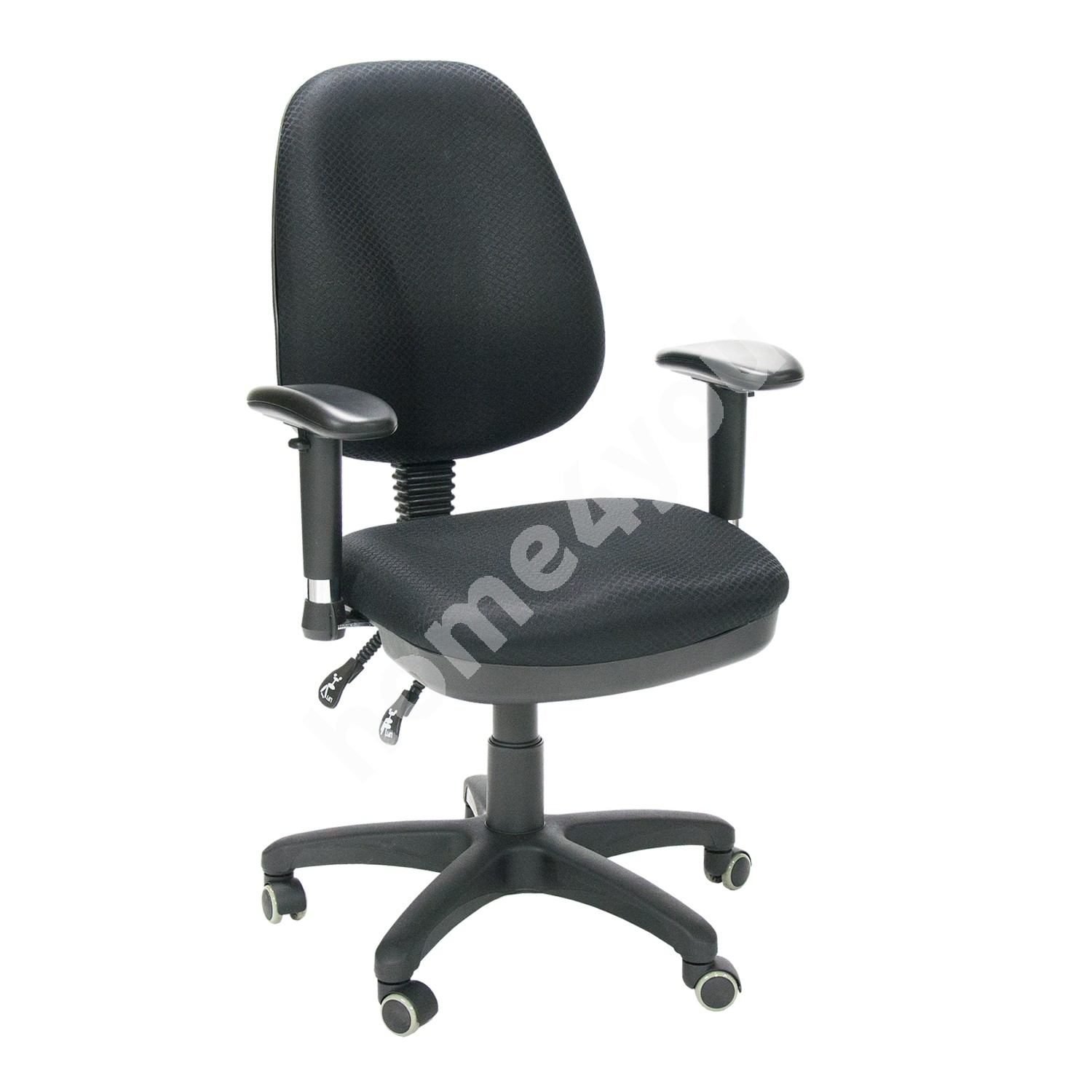 Task chair SAVONA 65xD47xH96-106cm, seat: fabric, color: black