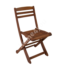 Chair ROUEN, 47x53xH84cm, foldable, wood: meranti, finishing: oiled