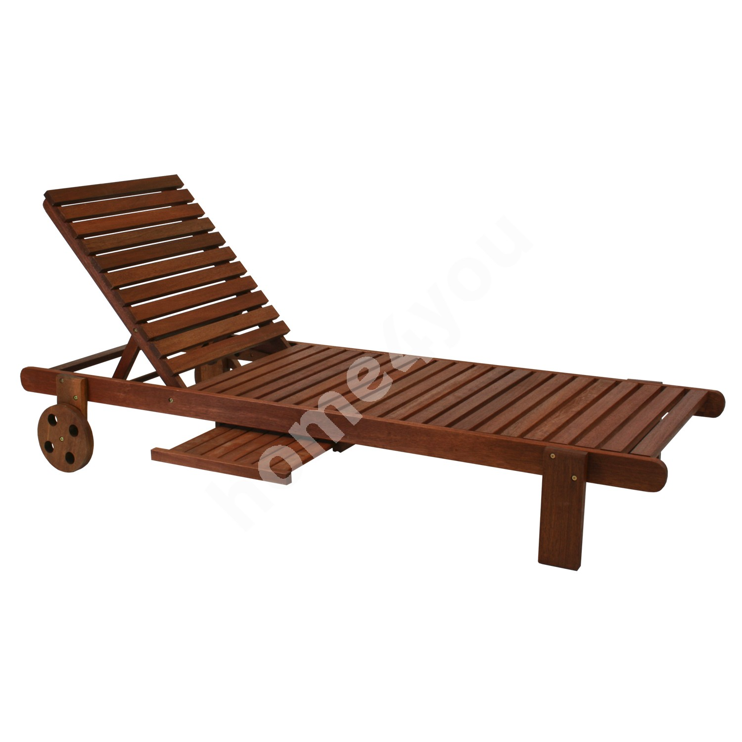 Deck chair MALAY with tray, 196x61xH80cm, wood: meranti, finish: oiled