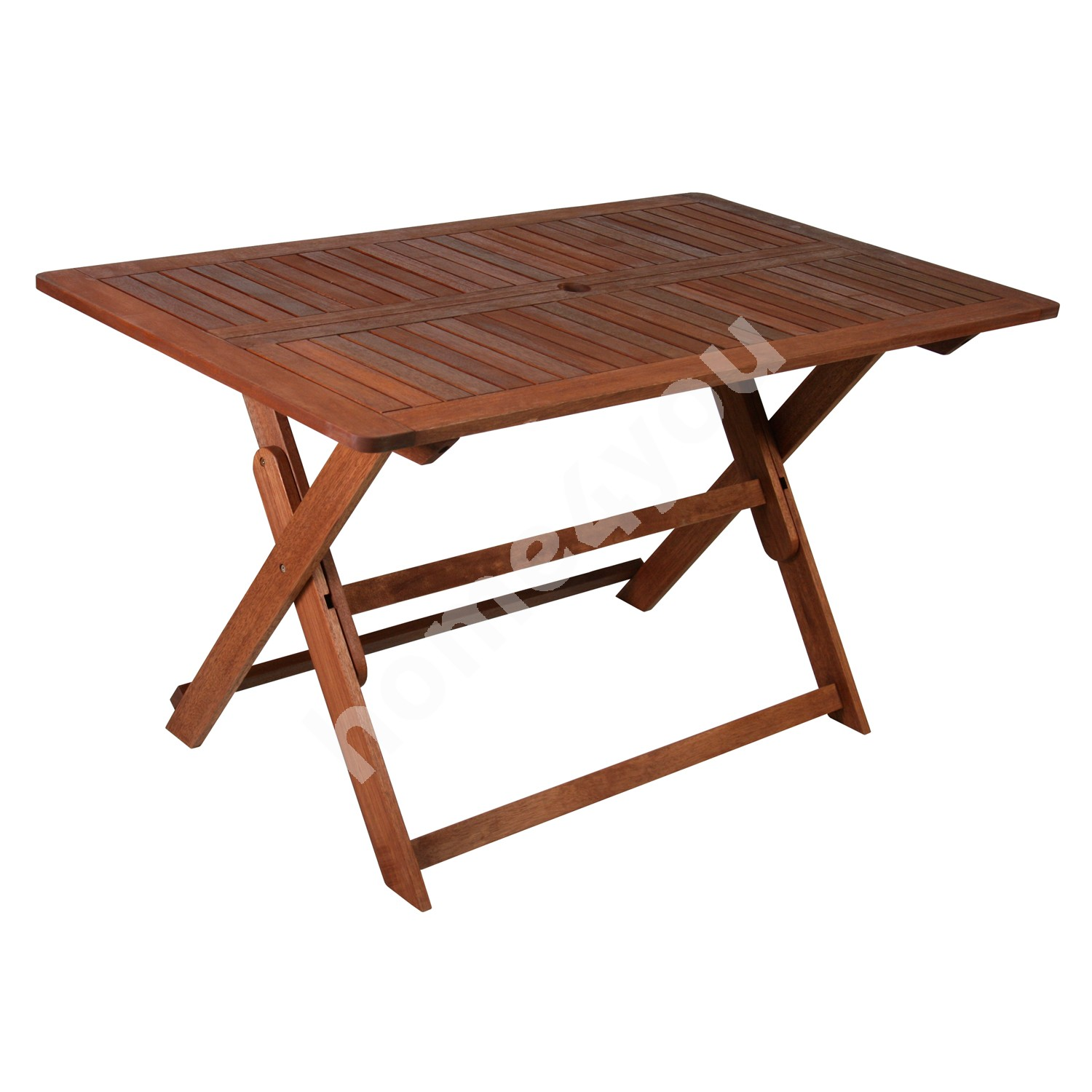 Table MODENA 135x80xH74cm, foldable, wood: meranti, finish: oiled