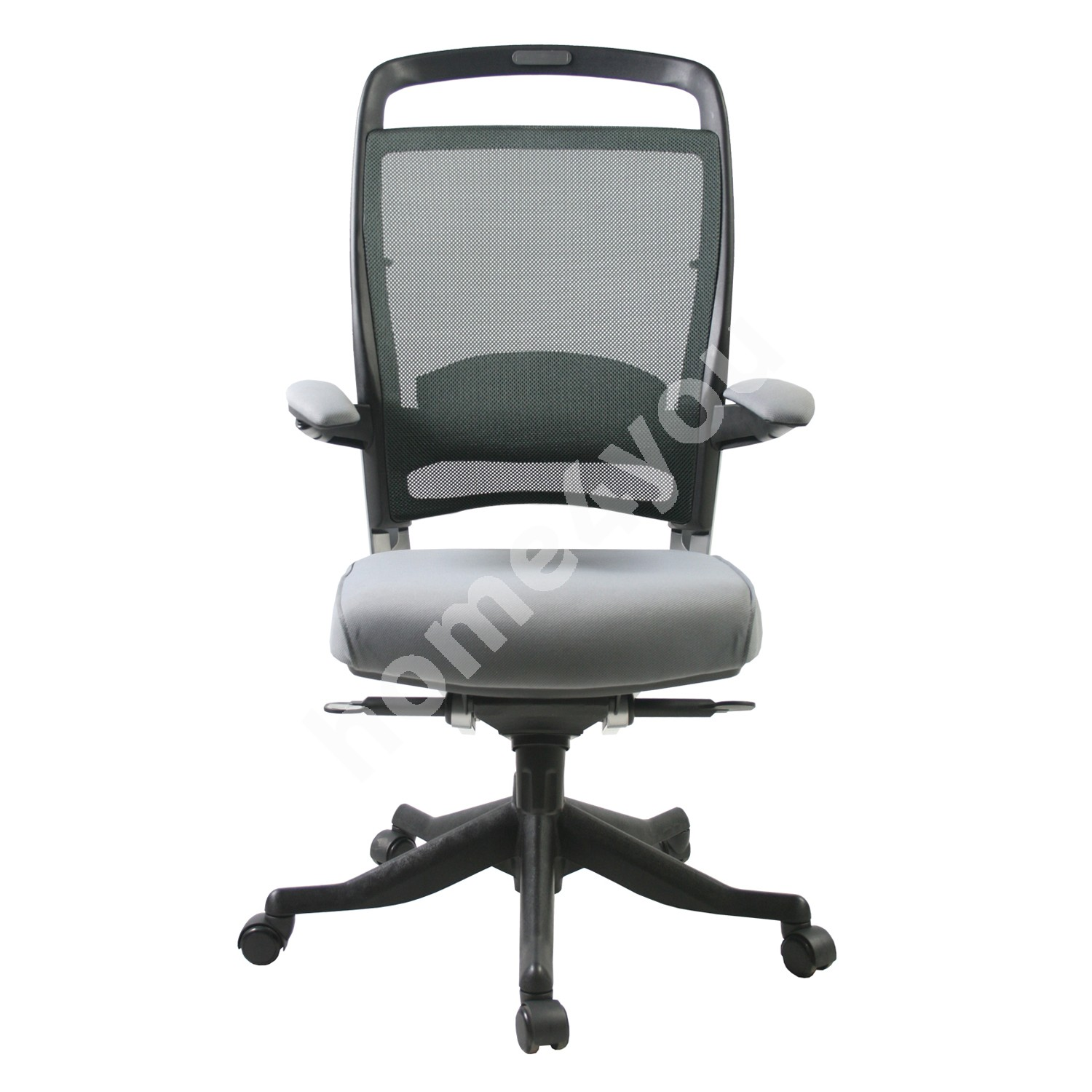 Task chair FULKRUM 48xD46xH102-108cm, seat: fabric, back rest: mesh, color: grey