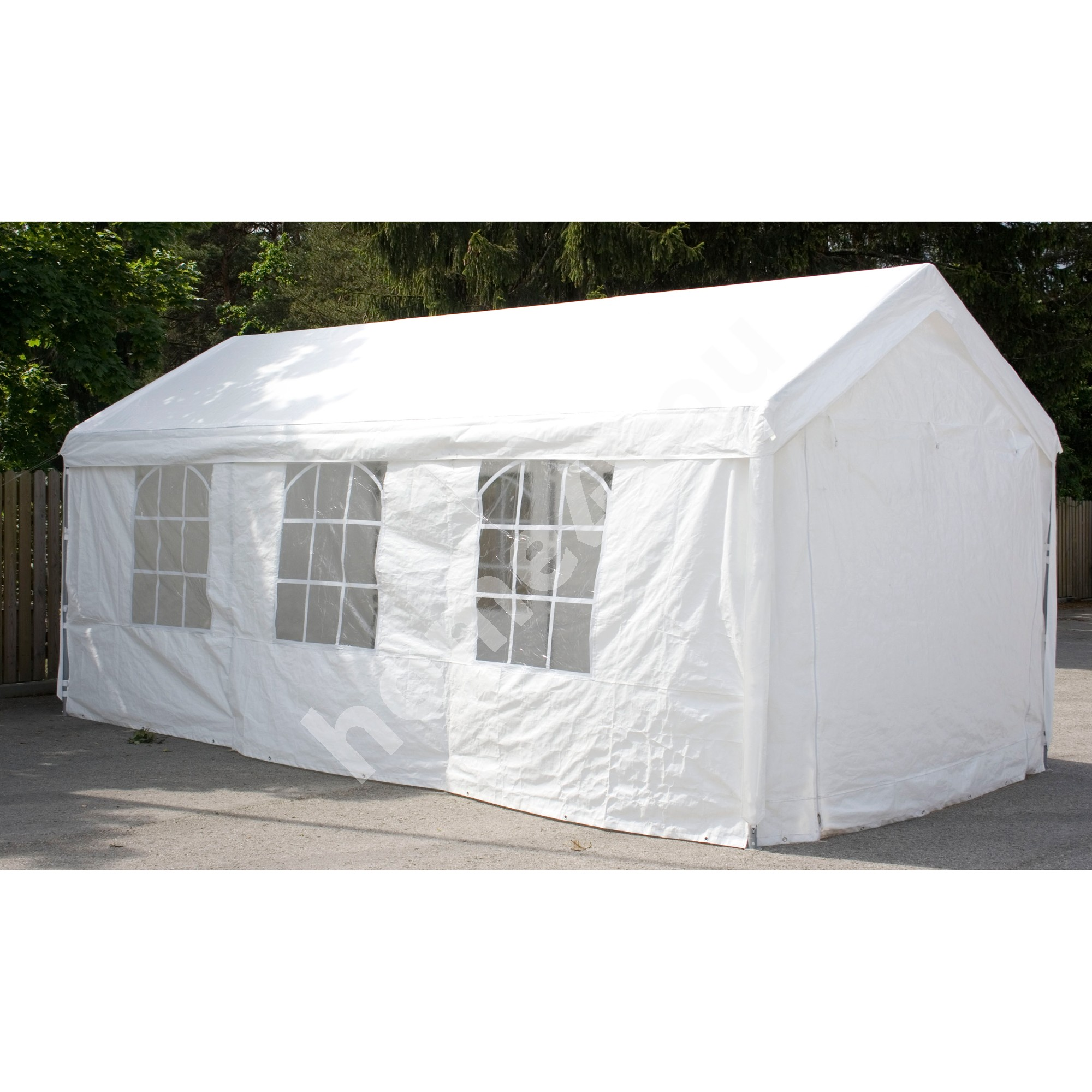 Party tent 3x6m, steel frame, cover: polyethylene, color: white