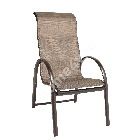 Chair MONTREAL 60x78,5xH107cm, seat: textiline, color: beige, aluminum frame, color: brown