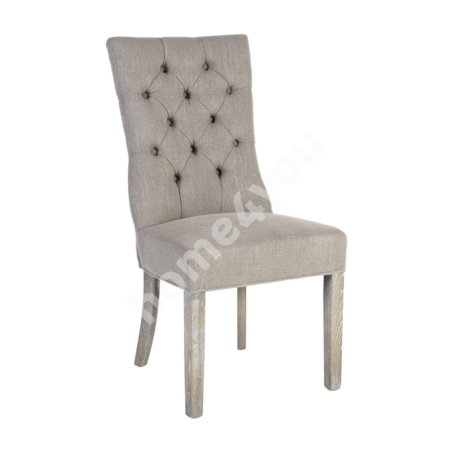Chair WATSON 52x57xH102cm, cover material: fabric, color: greyish beige, oak legs