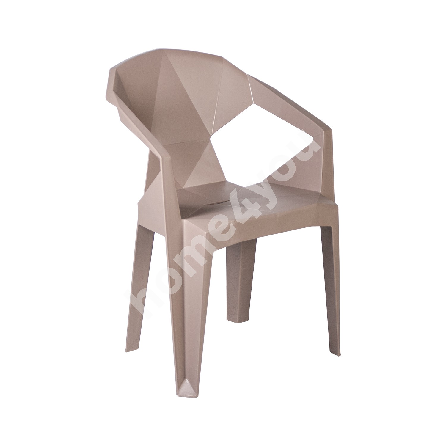 Chair MUZE 56x50,6xH80cm, material: plastic, color: taupe
