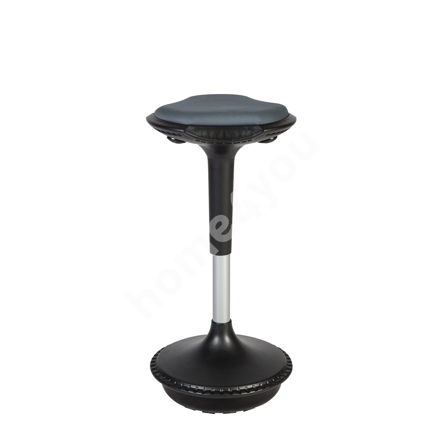 Balance stool JUST FUN D33xH59,5-84cm, seat pad is upholstered with fabric, color: grey