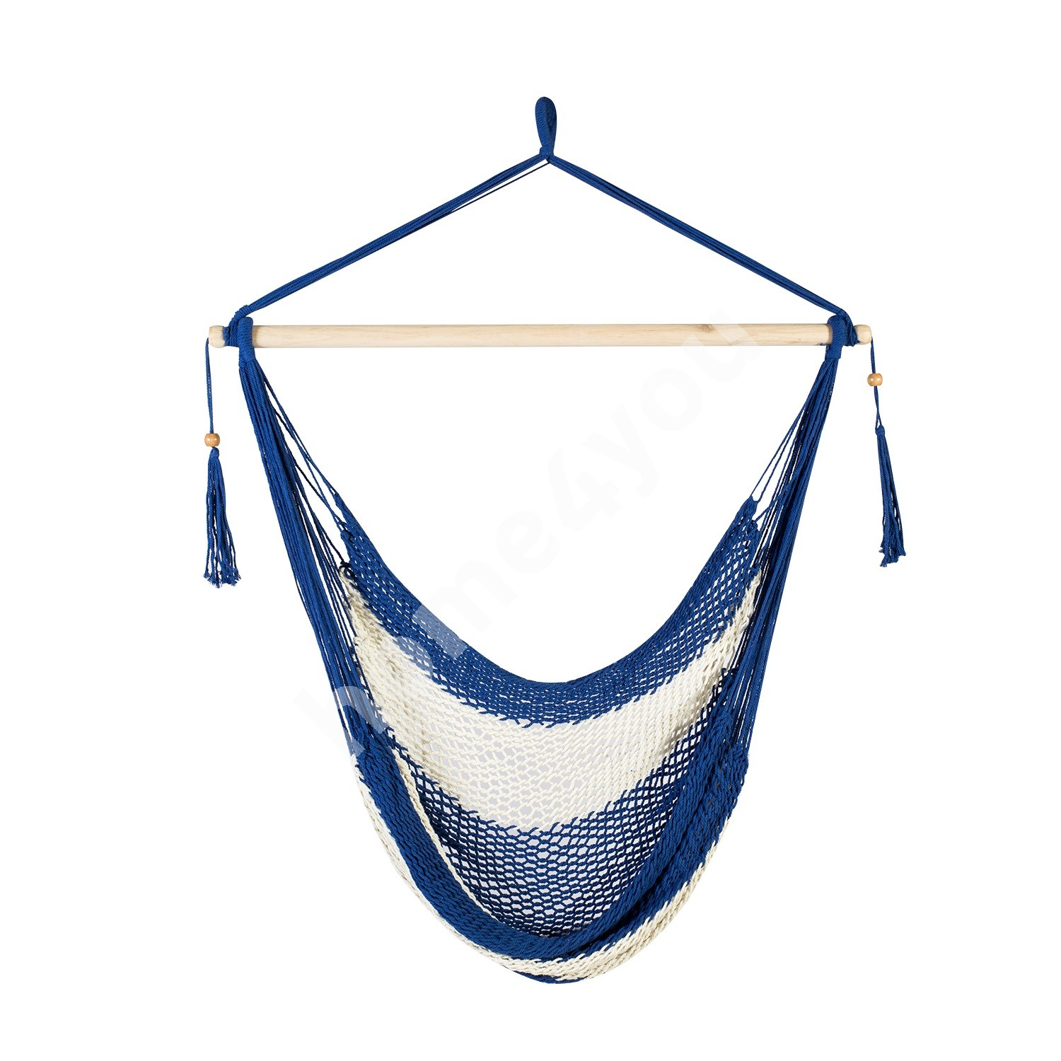 Swing chair CARINA, material: cotton, color: blue - white striped
