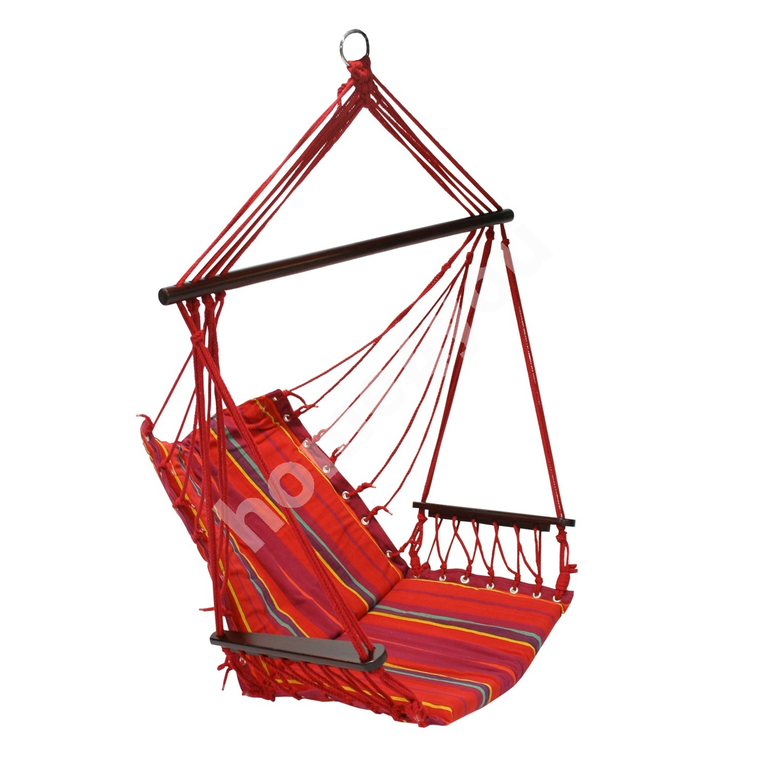 Swing chair HIP with cushion seat, material: cotton, color: red striped