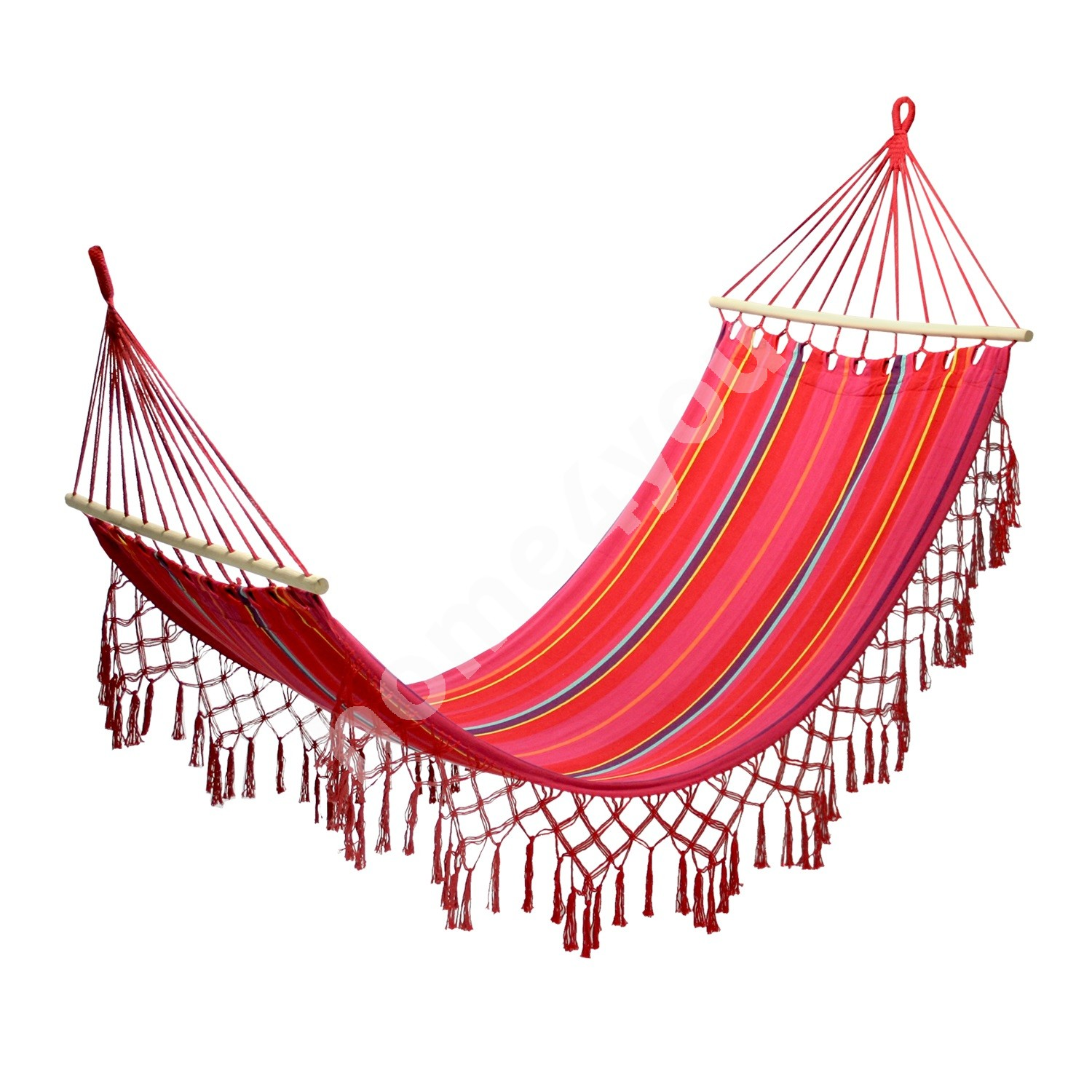Hammock ROMANCE, 200x100cm, material: cotton, color: red striped
