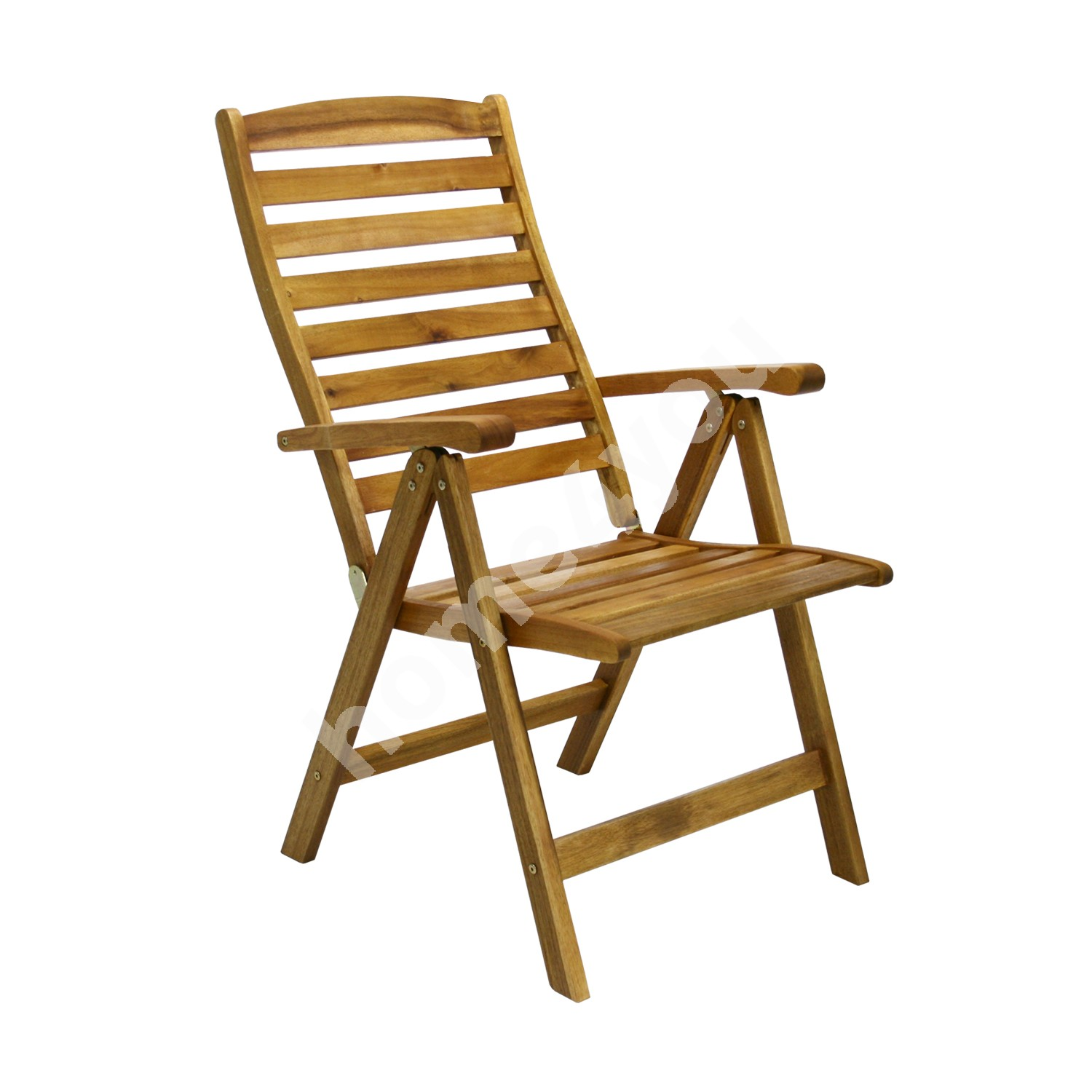 Chair FINLAY 62x66xH110cm, 5-position , wood: acacia, finish: oiled