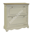 Shoe cabinet SAMIRA 92,5x32xH97cm, wood: ash, paulownia, finishing: lacquered