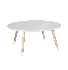 Diivanilaud FOXY D80xH35,5cm, materjal: puit, värvus: valge / naturaalne