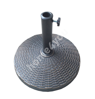 Parasol base D44,5xH33,5cm / 12kg, material: resin, color: bronze