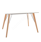 Обеденный стол HELENA WHITE 120x80xH75см, cтолешница: 18мм МДФ, цвет: белый, дубовые ножки