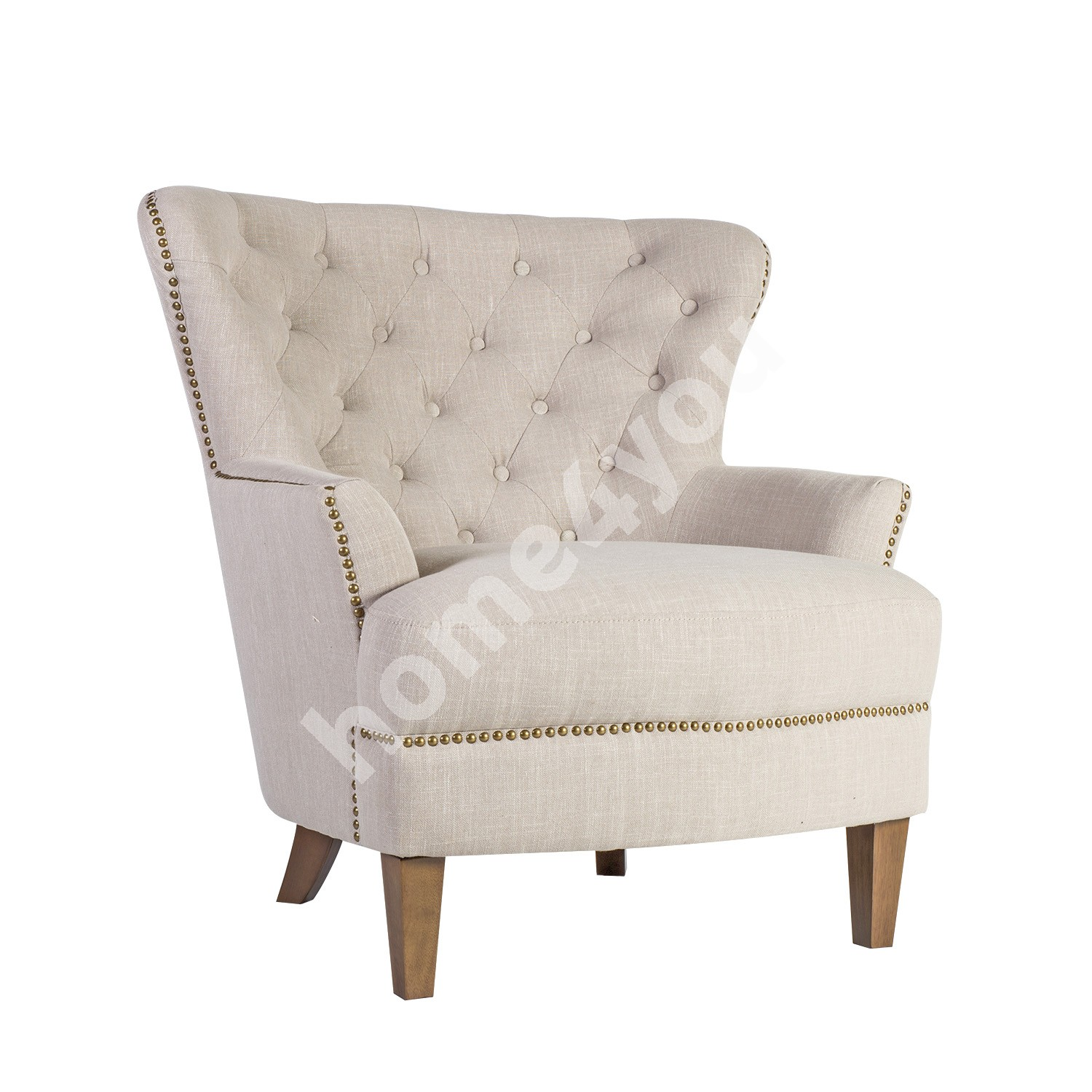 Arm chair HOLMES 79x85xH98cm, cover material: fabric, color: beige