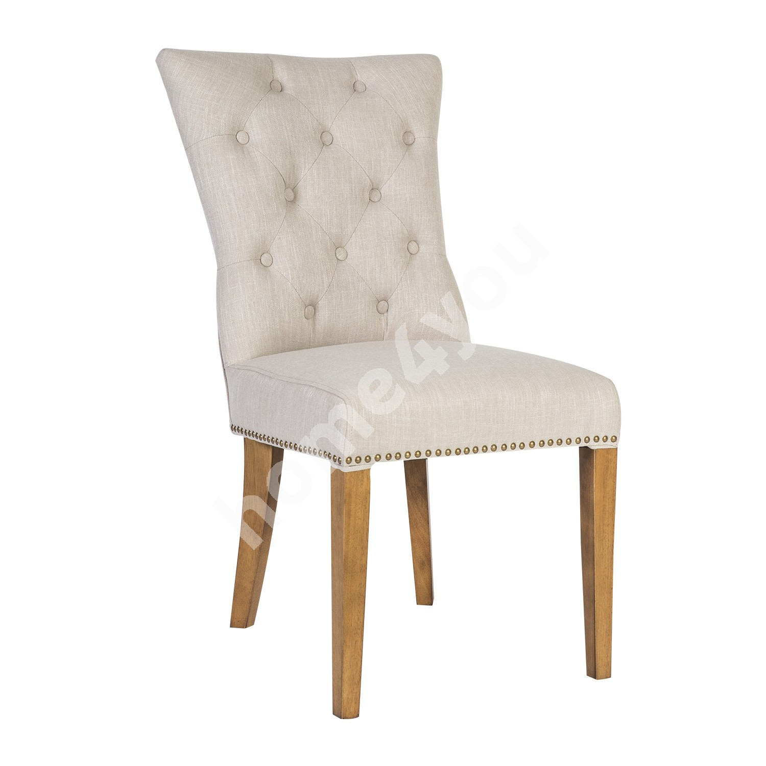 Chair HOLMES 55x68xH99cm, cover material: fabric, color: beige