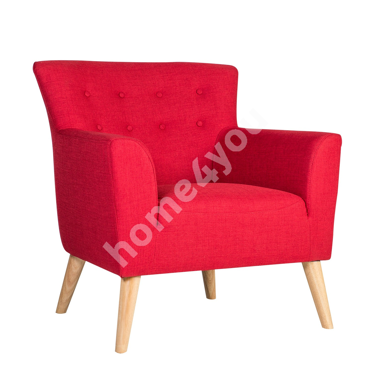 Arm chair MOVIE 83x76xH83cm, cover material: fabric, color: red