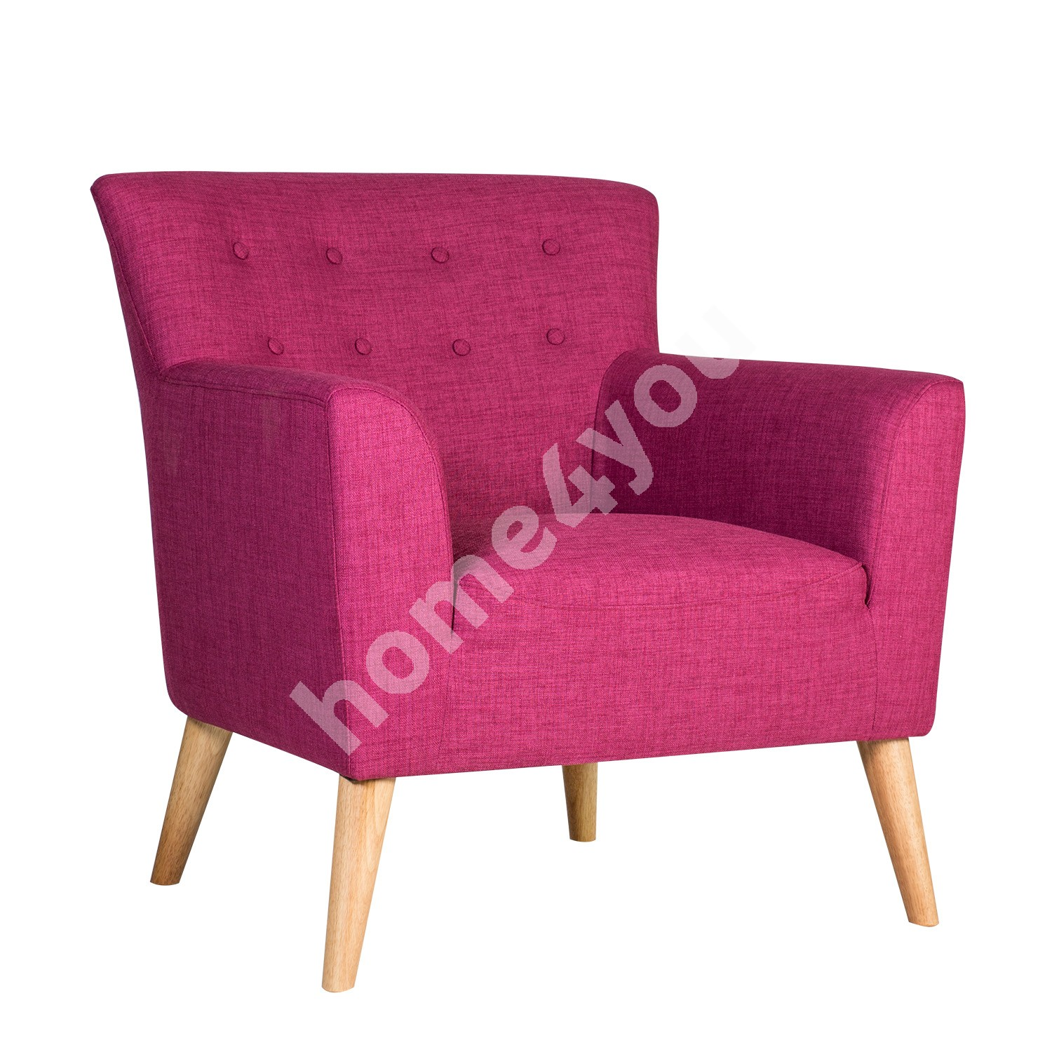 Arm chair MOVIE 83x76xH83cm, cover material: fabric, color: fuchsia