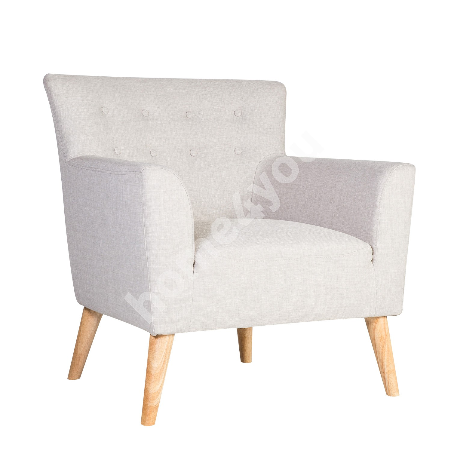 Arm chair MOVIE 83x76xH83cm, cover material: fabric, color: light grey