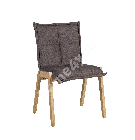Tool RAZOR 55x58,5xH84cm, kangaga kaetud polsterdatud iste ja seljatugi, värvus: pruun, jalad/raam: kummipuu