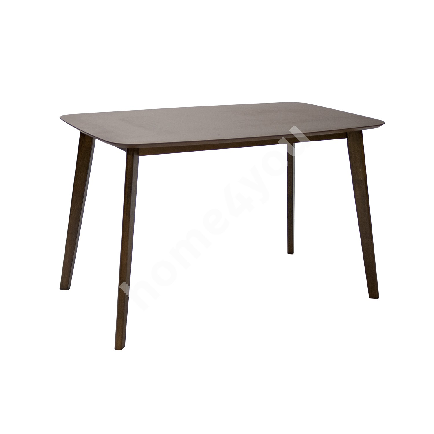 Dining table LUXY 120x75xH75cm, material: MDF with okume veneer / rubber wood, color: walnut, finishing: lacquered
