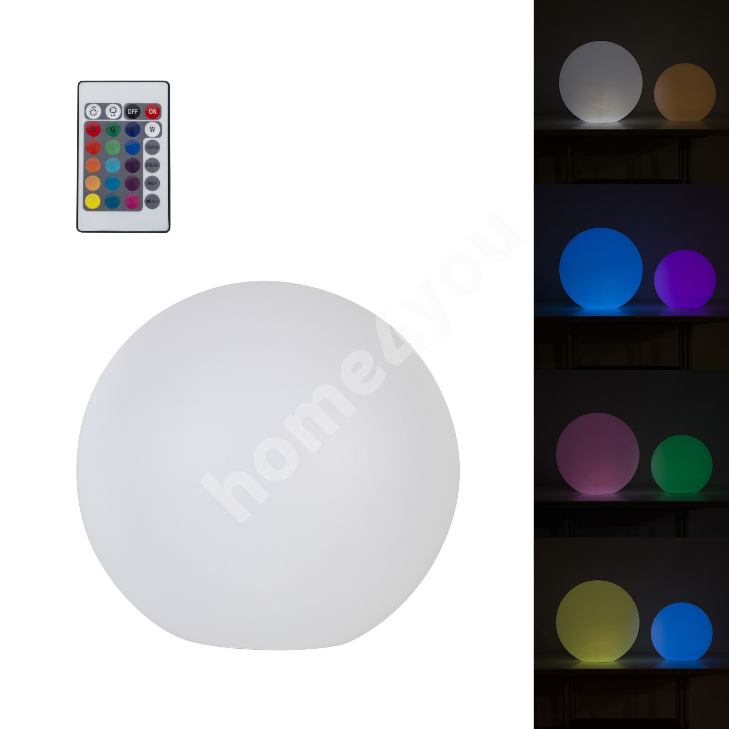 LED light ball NEPTUNE D30cm with remote control