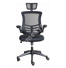 Task chair RAGUSA 66,5xD51xH117-126cm, seat and back rest: mesh fabric, color: black Mechanism and adjustments: tilt mec