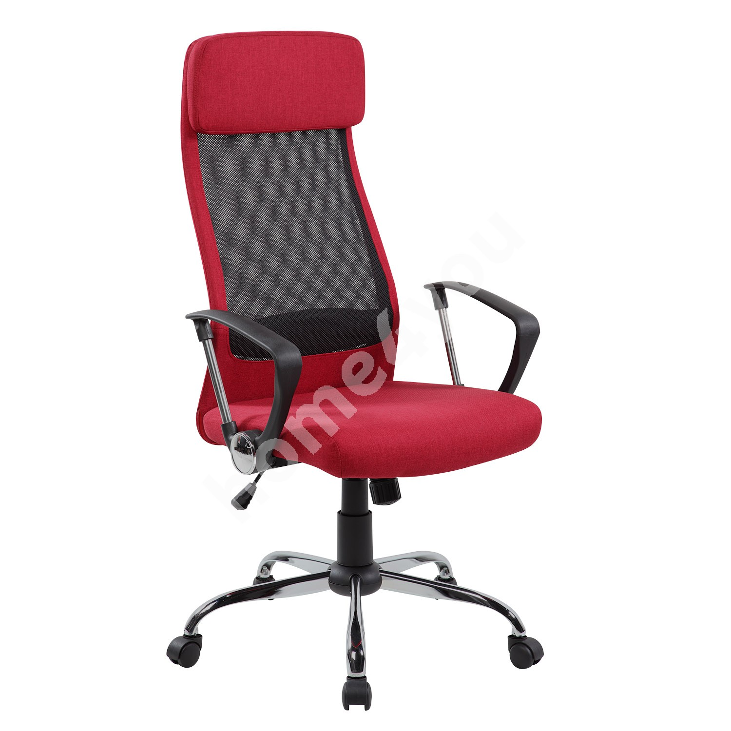 Task chair DARLA 62x63xH116-126cm, seat and back rest: fabric / mesh fabric, color: red