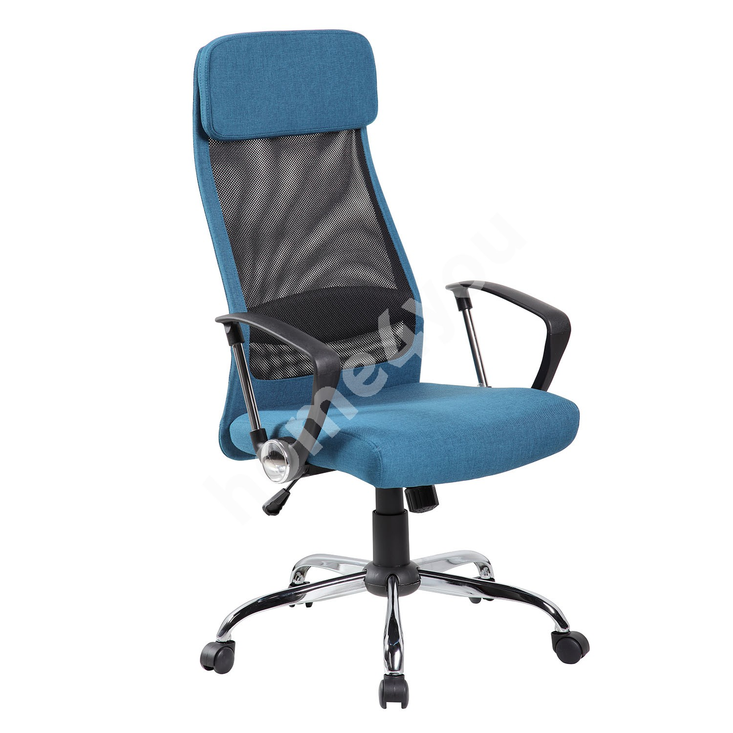 Task chair DARLA 62x63xH116-126cm, seat and back rest: fabric / mesh fabric, color: blue