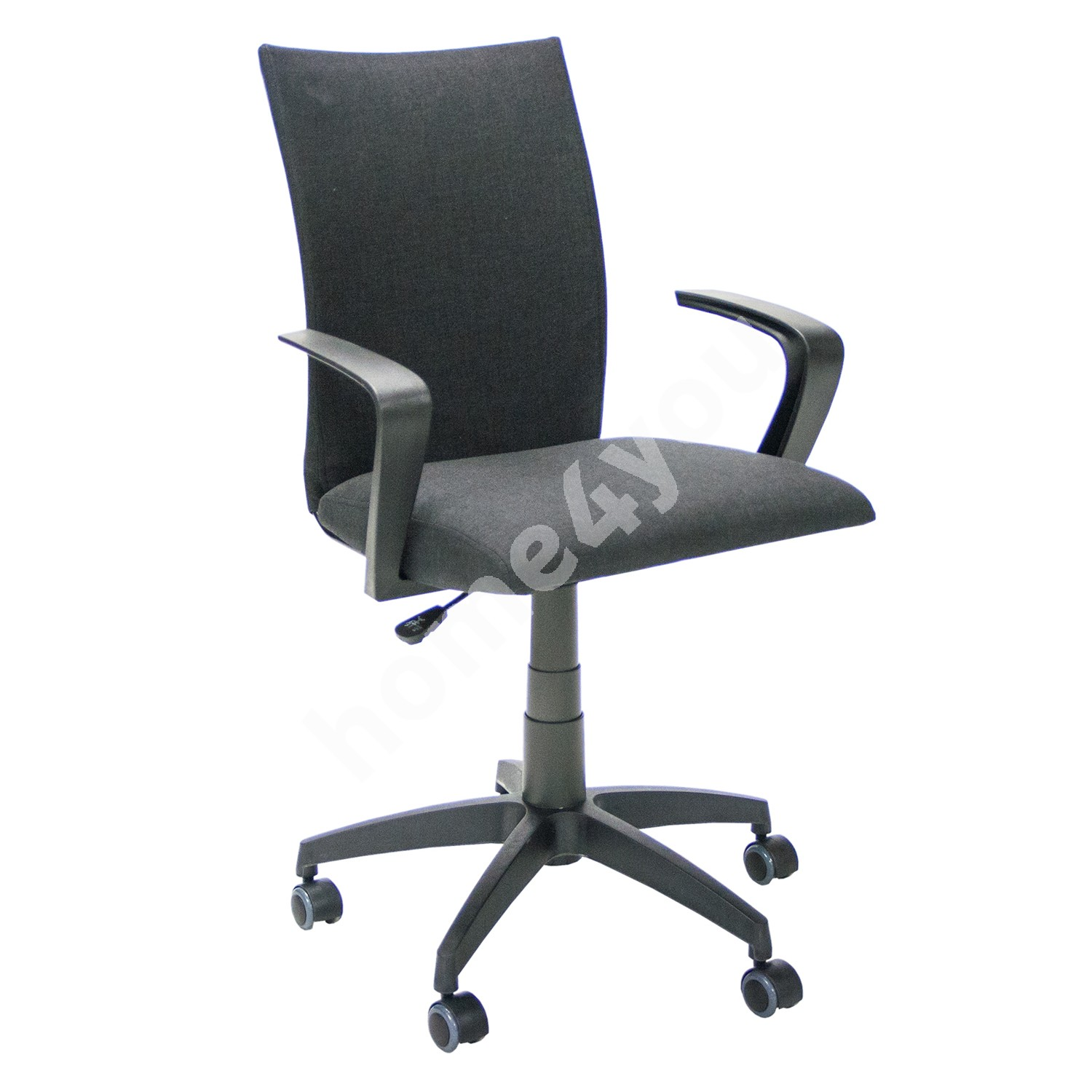 Task chair CLAUDIA 59x57xH87-96,5cm, seat and back rest: fabric, color: black