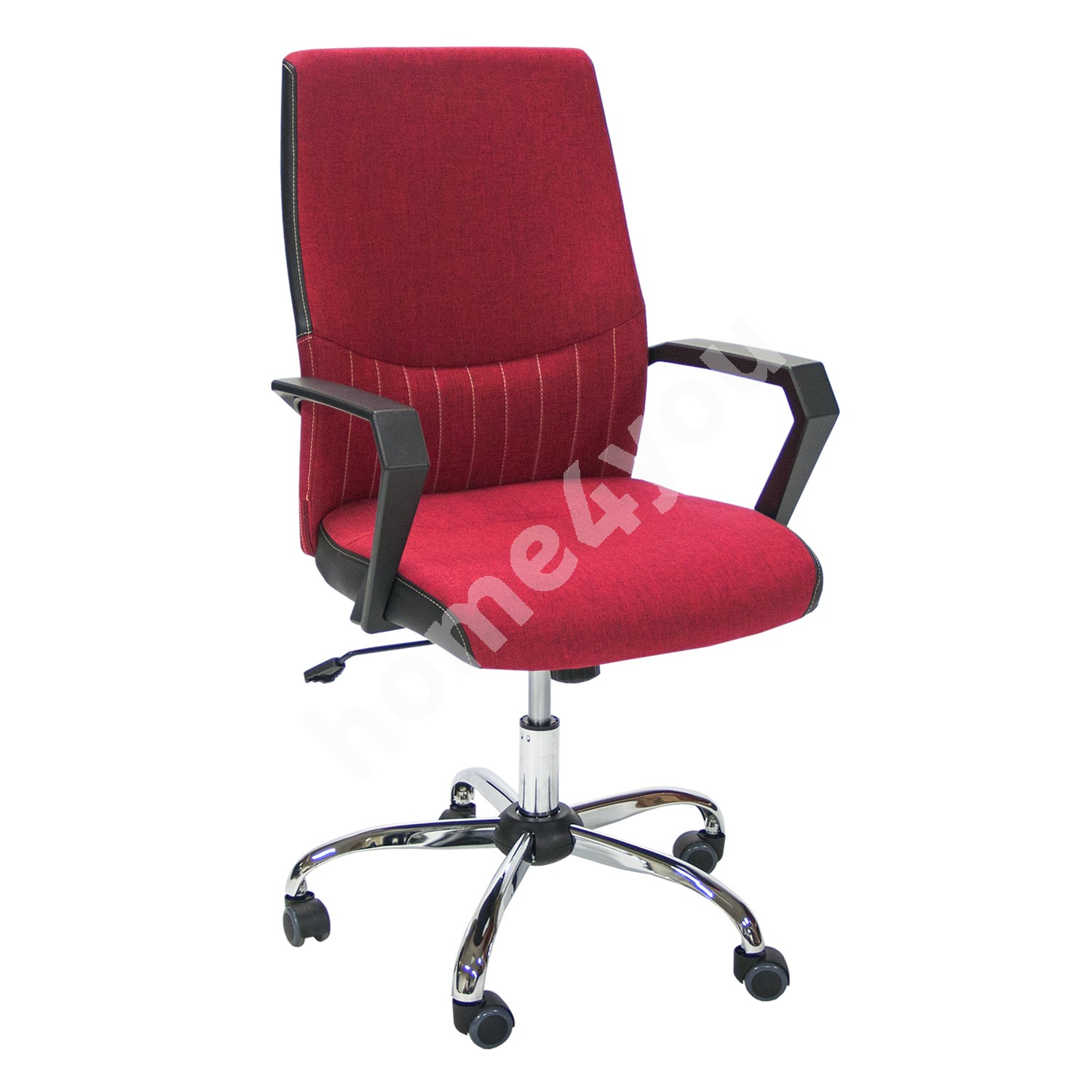 Task chair ANGELO 58x59x97-105cm, seat and back rest: fabric, color: red