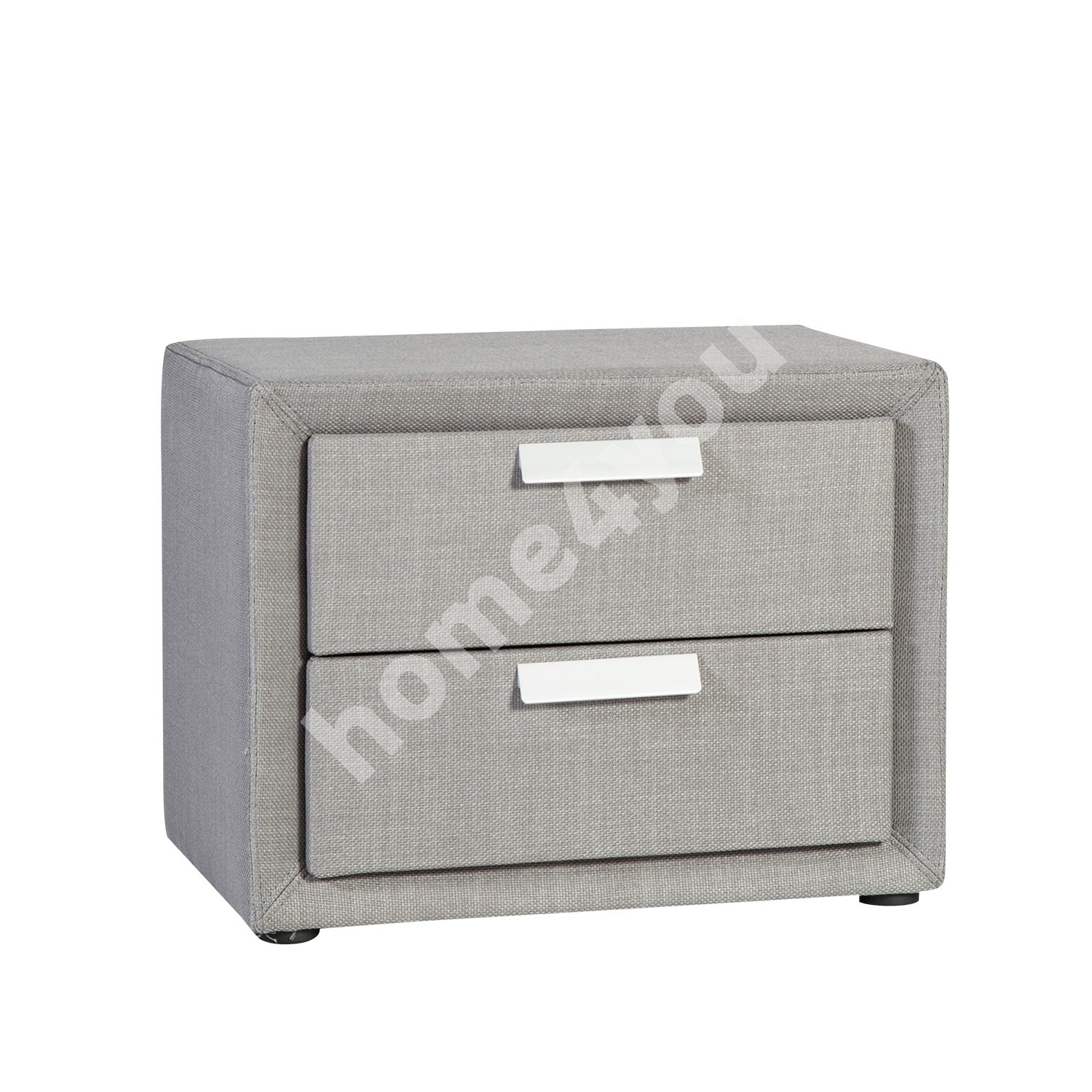 Night stand CAREN with 2 drawers 50,5x41xH40cm, frame is covered with fabric, color: grey