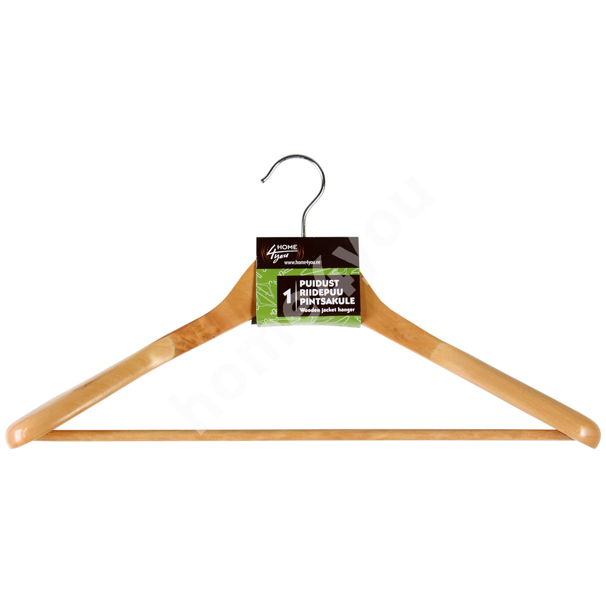 Cloth hanger for jacket 45x16x6cm, natural wood