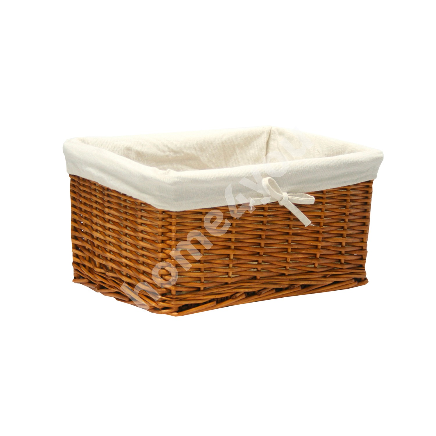 Basket MAX 30x21x18cm, weave, color: light brown, with fabric