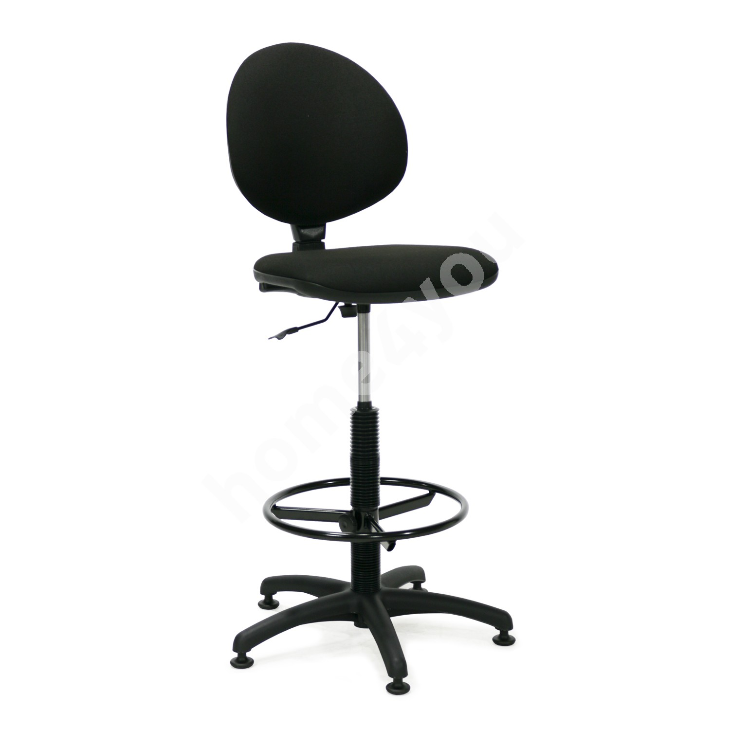 Chair high SMART 46x42,5-46,5xH109-132,5cm, seat and back rest: fabric, color: black