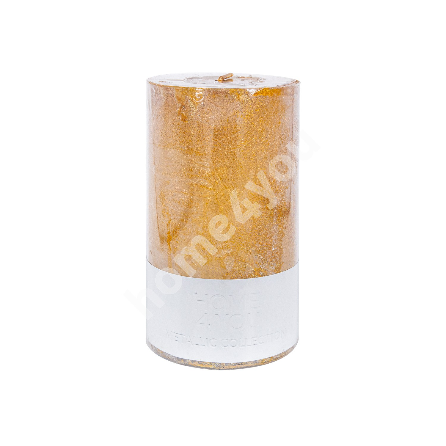 Candle LUXO, D6.8xH12cm, gold metallic ( no scent)