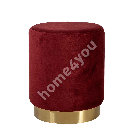 Tumba LA PERLA, D35xH42cm, kattematerjal: samet kangas, värv: punane