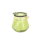 Свеча в стеклянной банке VENEETSIA XL, D9xH9.5см, зеленая, без запаха