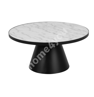 Diivanilaud SOLI D85xH40cm, valge marmor/must