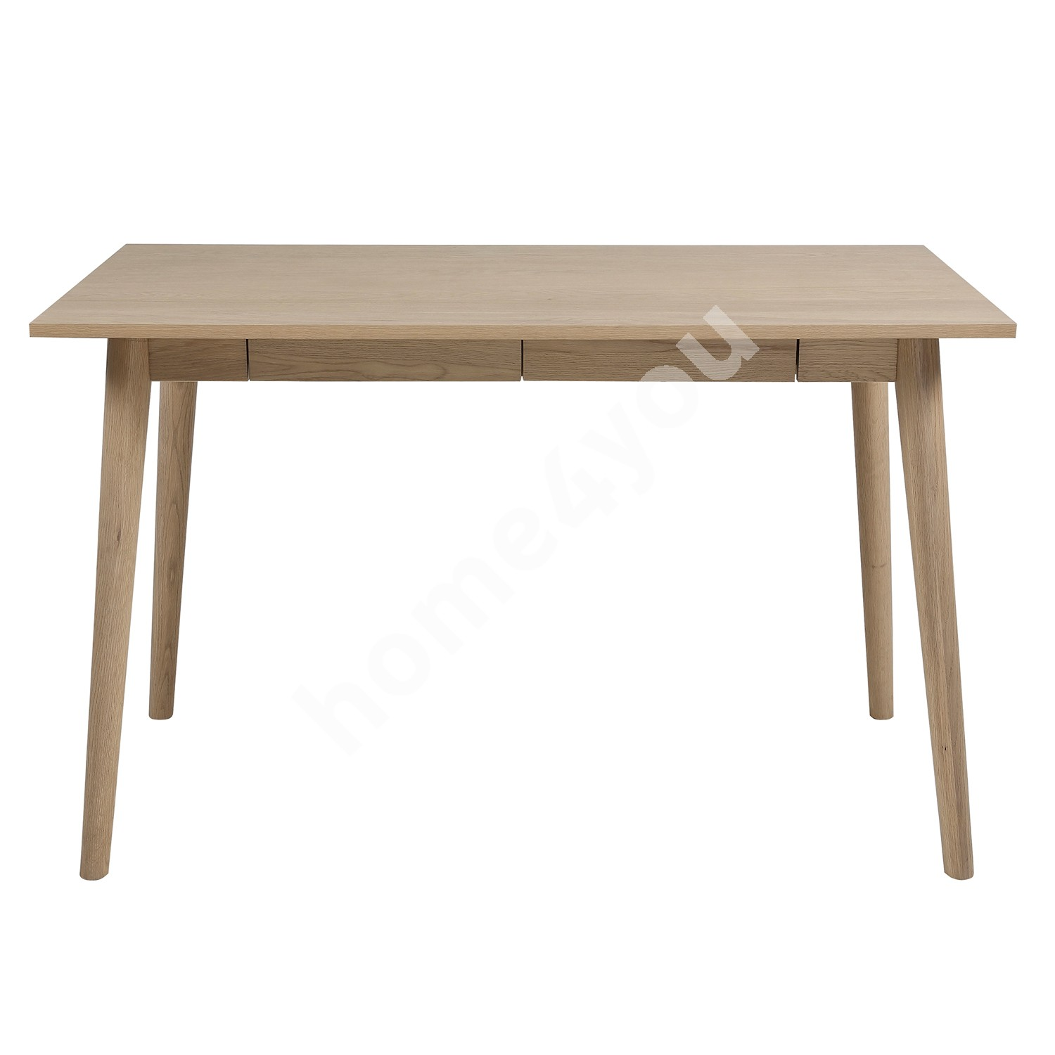 Desk MARTE with 2 drawers, 120x60xH75cm, white stained oak