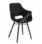 Tool RAMONA 57x52,5x85cm, materjal: plastik, iste: kunstnahk, värvus: must, jalad: kummipuu, värvus: must