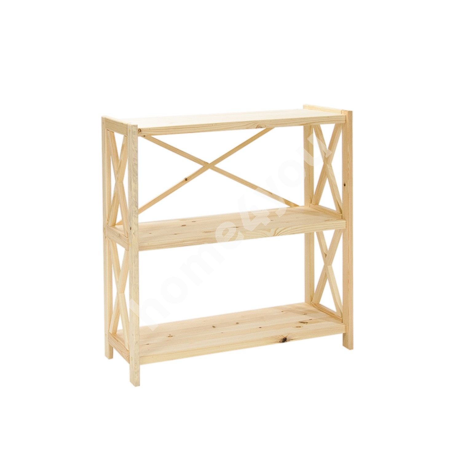 Shelf ALEX 3-tier, 80x31xH86cm, wood: pine, color: natural