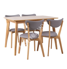 Söögilauakomplekt JONNA 4-tooliga (10515), tammespoon / kummipuu