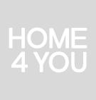 Söögilauakomplekt TURIN 4-tooliga (11329) klaasplaadiga tammepuidust jalgaega laud, kuldpruuni kattega toolid