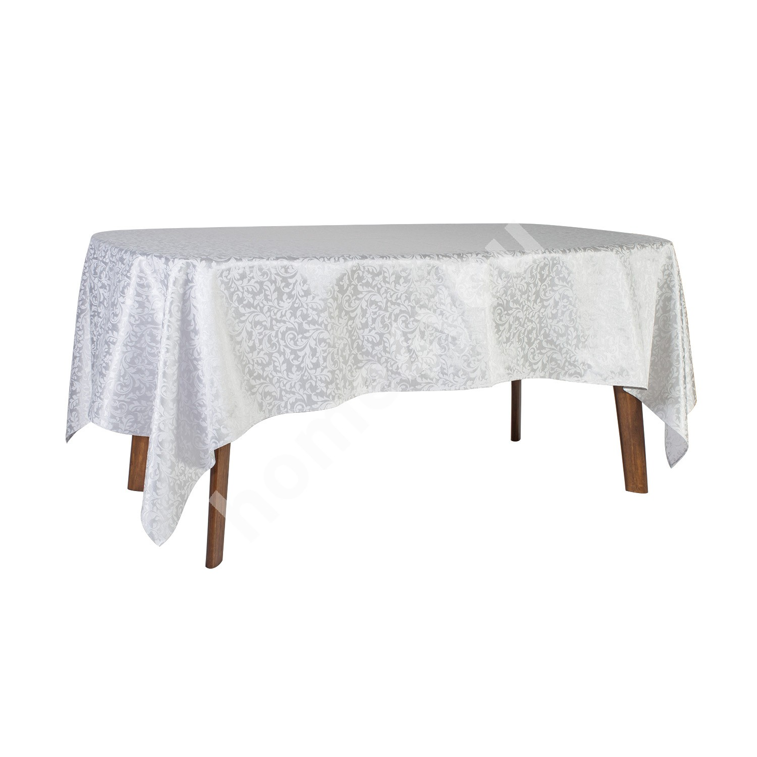 Tablecloth GOLD & SILVER 150x250cm, silver leaf motive, 50% cotton, 50% polyester, fabric-180