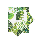 Linik HOLLY 58x65cm, rohelised lehed, 100% puuvill, kangas 785