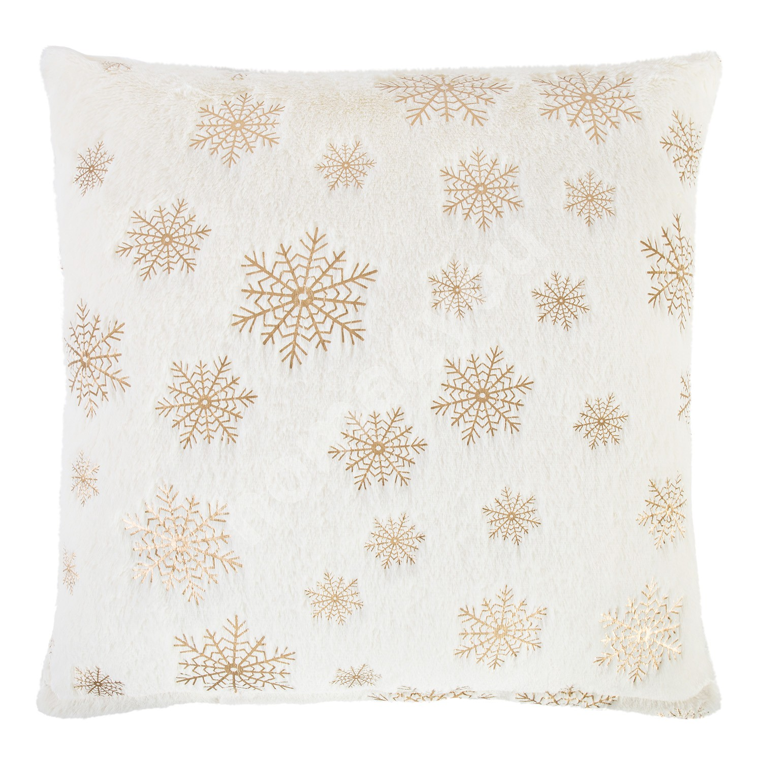 Pillow SOFT WINTER 50x50cm, snowflakes, 100% polyester, fabric-137