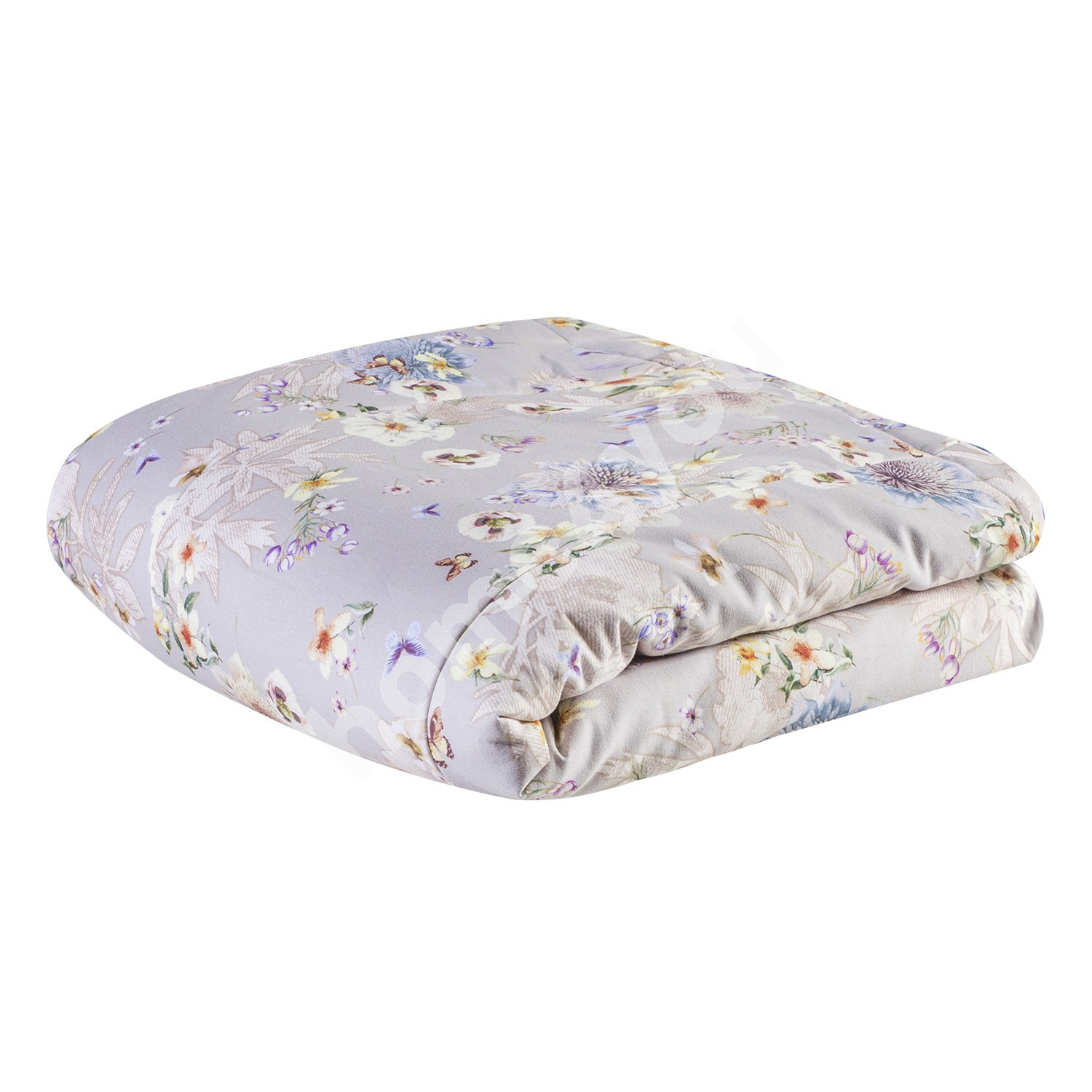 Blanket CLIVIA 225x240cm, flowers and butterflies, upper fabric 100%cotton, bottom fabric 100%polyester, fabric -223, 63
